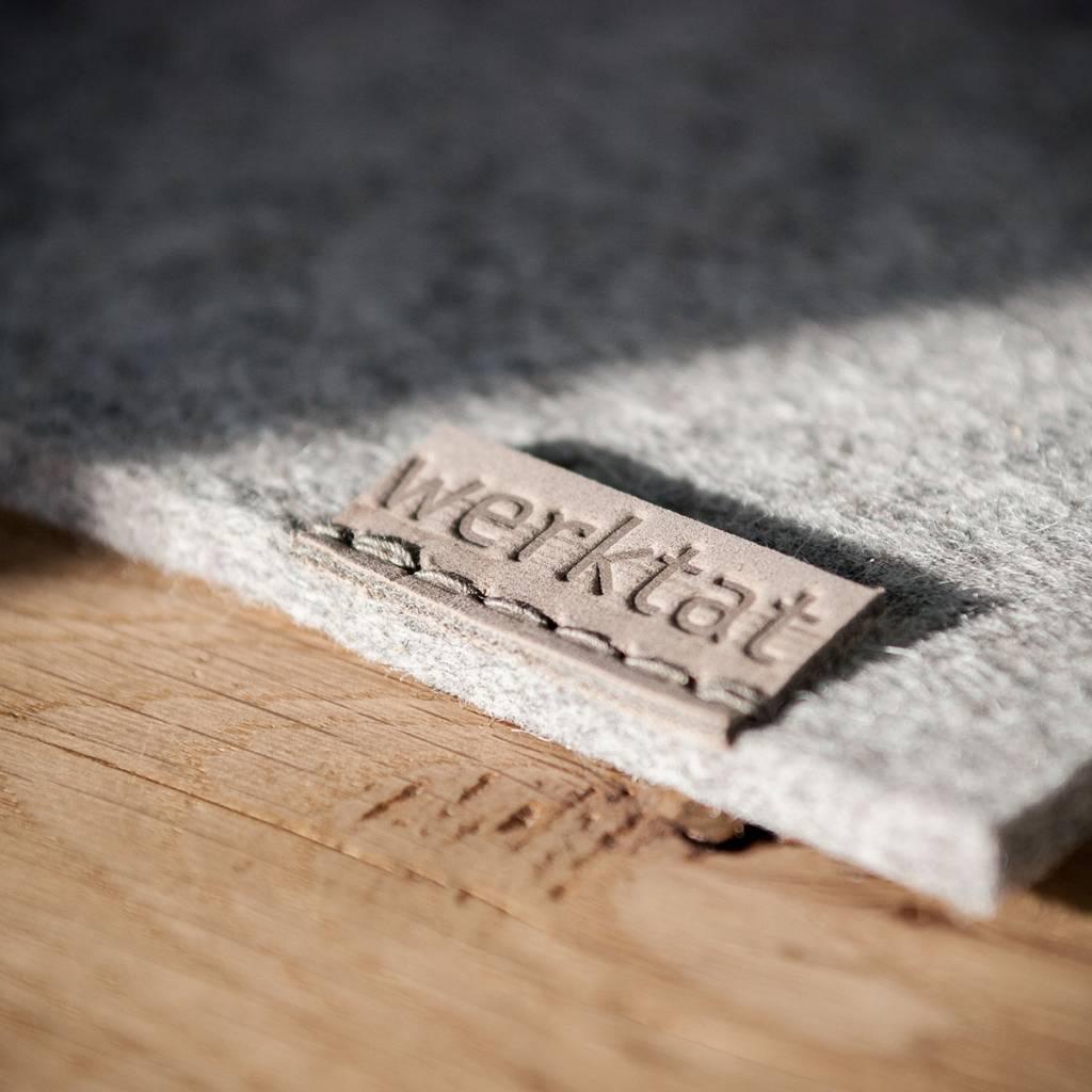 werktat mousepad, merino wool felt gray mixed, Wohltat