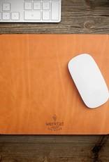"""werktat Leder Mousepad, Mauspad """"Wohltat"""", Geschenk für Männer, Frauen oder einfach selbst behalten"""