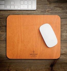 "werktat ""Wohltat"" leather mousepad"
