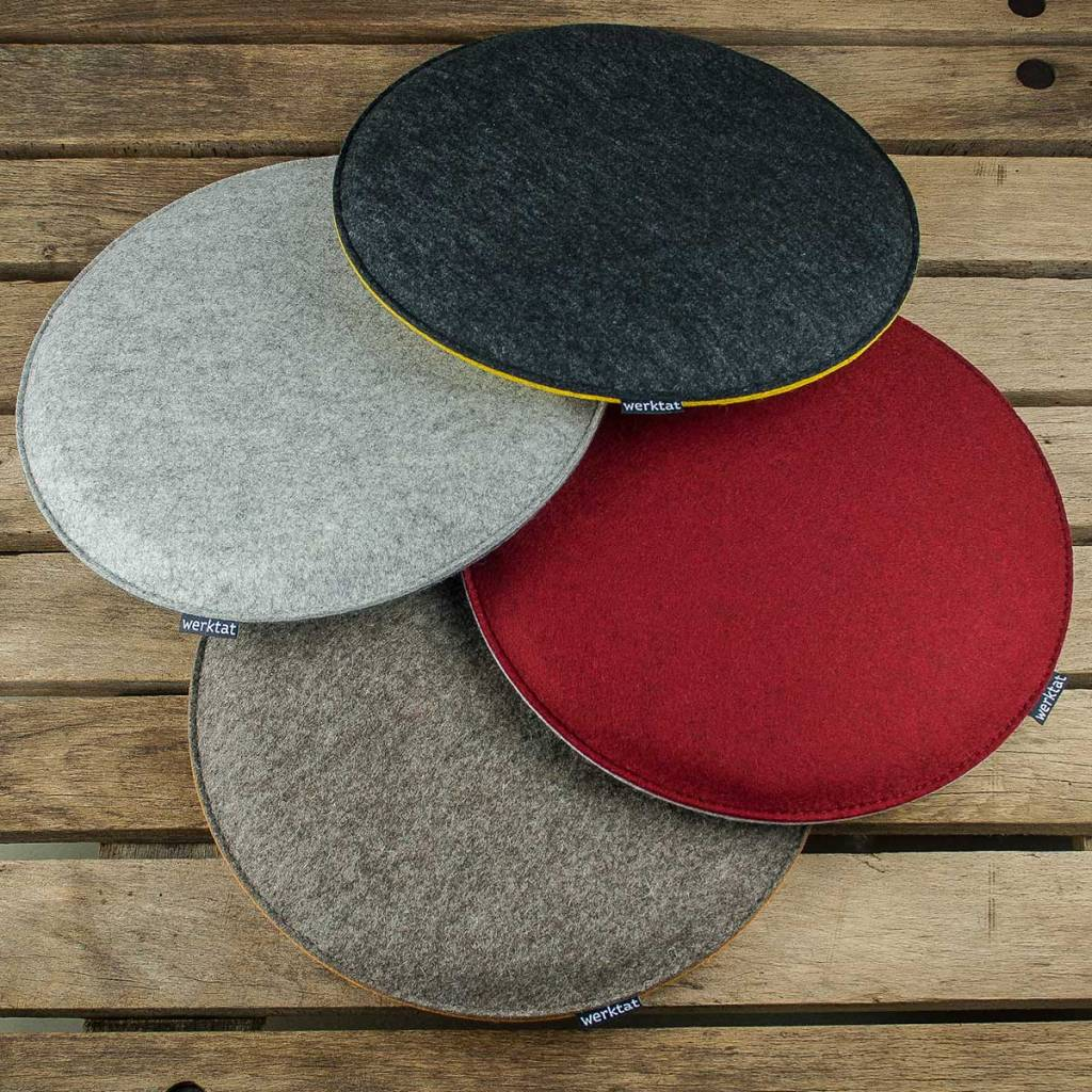 Werktat Felt Seat Cushions Padded, Round, Chair Cushions, Bench Cousions  Stuffed, ...