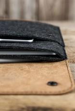 """werktat MacBook Pro Tasche Leder Filz Ledertasche """"Werkzeugtasche"""" passend gefertigt für MacBook Pro 13 15 12, Touch Bar"""