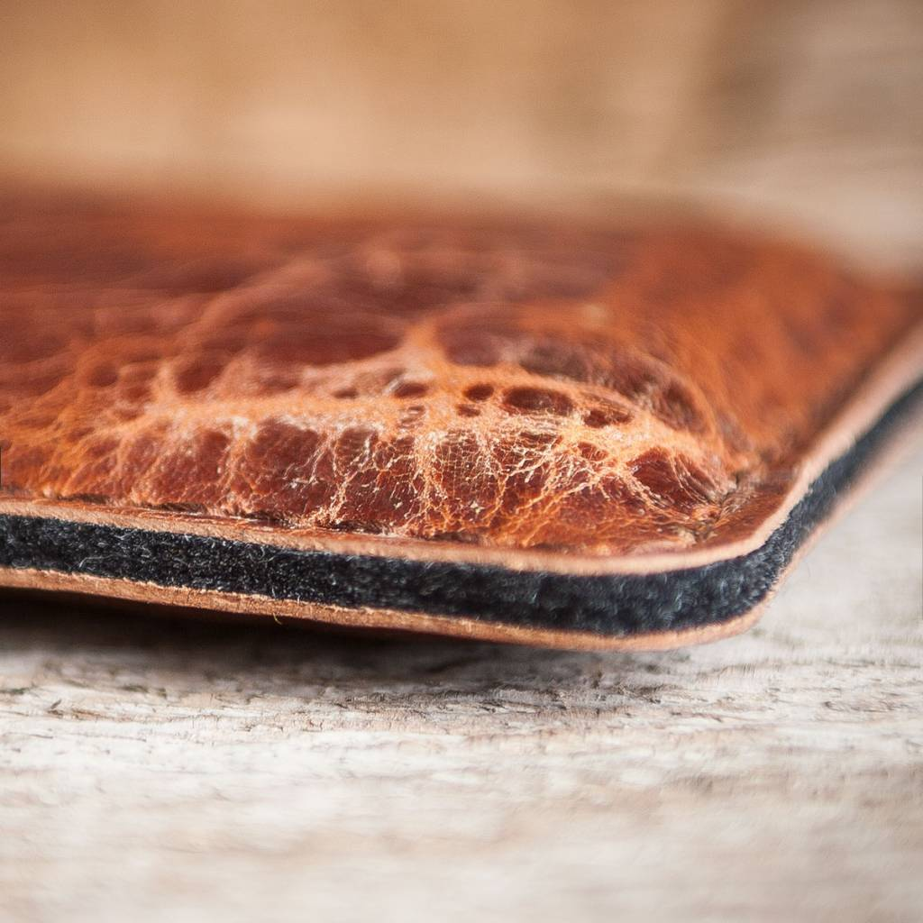 """iPhone Xs Max leather case sleeve felt, """"Katastophenschutz wild brown"""" suitable crafted for your iPhone"""