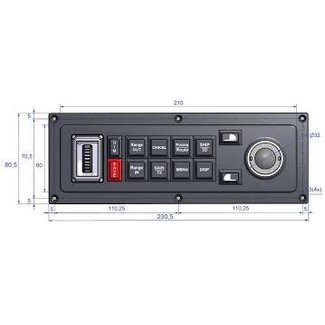 MaxSea Keyboard MCP-10 für MaxSea TimeZero (horizontal)