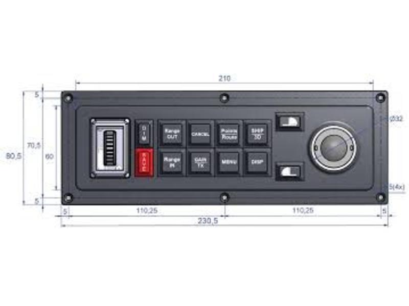 MaxSea Keyboard MCP-10 voor MaxSea TimeZero (horizontal)