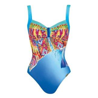 Sunflair Swimsuit Orange Laguna Blue/Red