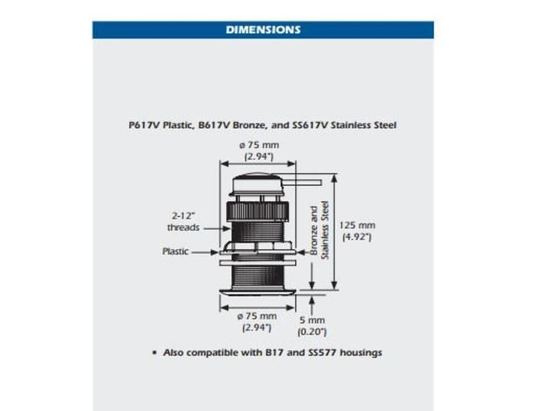 Airmar SMART Echosounder Sensor DT800