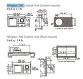 FURUNO Flach-Einbau-Montage Kit für FAP-7001