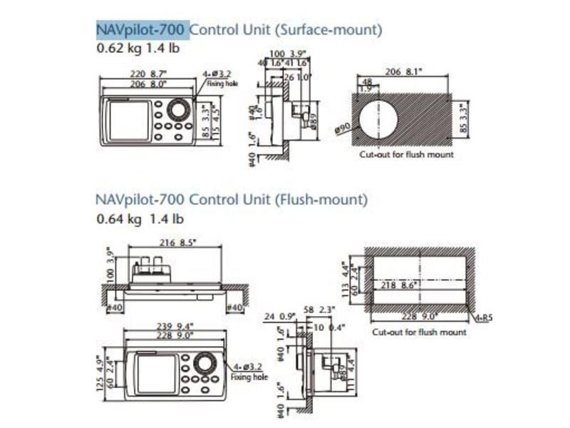 FURUNO Inbouwkit voor FAP7001