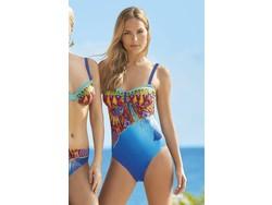 Sunflair Swimsuit Orange Laguna Blue/Green
