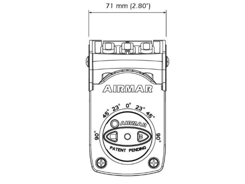 AIRMAR CHIRP Transducer TM150M DT 95-155 Kunststof 300W