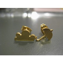 Stud Earrings #Umbrella for rainy days - Gold