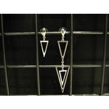 Earrings #Asymetric Triangles - Silver