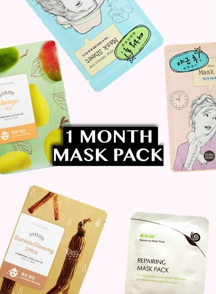 PACK DEALS 1 Month sheet masks