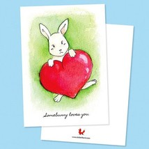 "By STEL.EL STEL.EL - Postcard ""Somebunny loves you"""