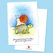 By STEL.EL STEL.EL - Postcard Turtle & Snail