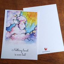 "By STEL.EL STEL.EL - Postcard ""Nothing loved is ever lost"""