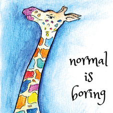 "By STEL.EL STEL.EL - Postcard ""Normal Is Boring"""