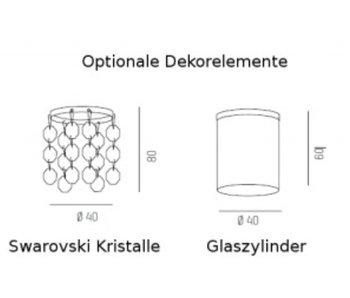Molto Luce Kristallbehang für Alpha LED Pendelleuchte