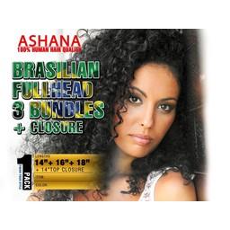 ASHANA HAIR Ashana Hair - Bundle Fullhead + Closure (Brasilian)