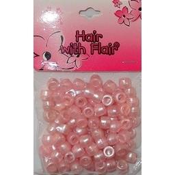 Kralen (100 stuks) - parelmoer roze