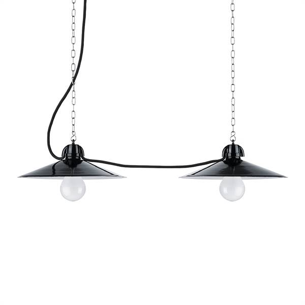 Hanglamp duroplast fitting zwarte kap