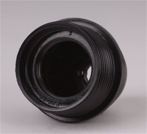 Fitting zwart bakeliet E27 flens halfhoog