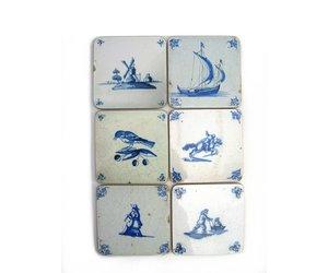 Delfts Blauwe Tegels : Delft blauwe tegel koeien bij molen
