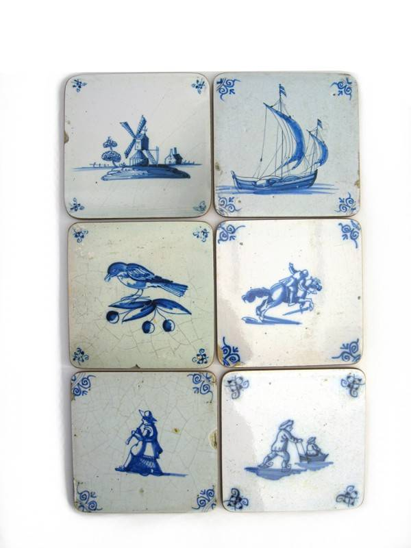 Onderzetters Delfts blauwe tegels