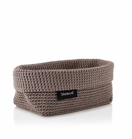 Blomus Crochet rope basket taupe L
