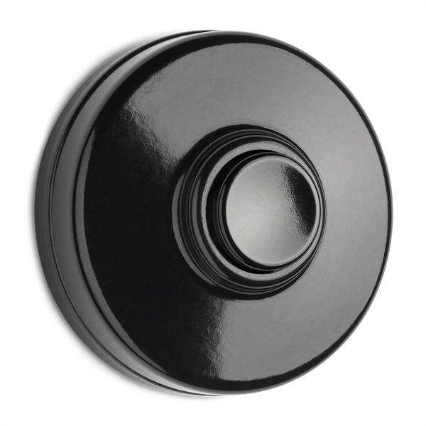 Deurbel drukker bakeliet - zwarte knop