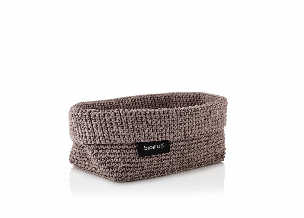 Blomus Crochet rope basket taupe L