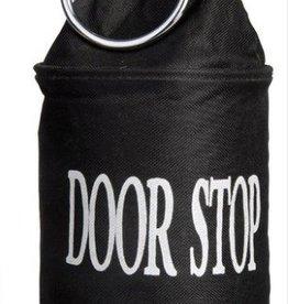 Deurstopper + ring - Zwart