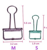 Binder clip div. kleuren S 4 x 2cm