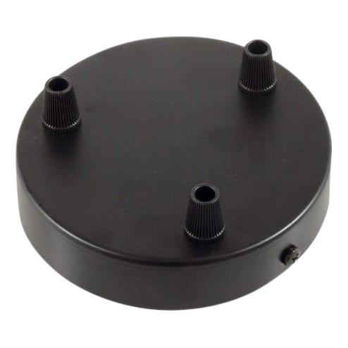 Plafondkap zwart - 3 snoeren