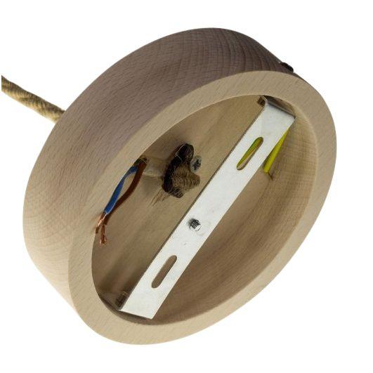 Houten plafondplaat - 3x 0,75 jute - 16mm
