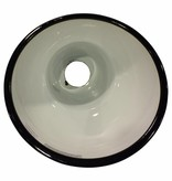 Emaille lampenkap - zwart schuin