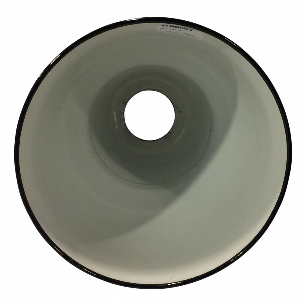 Emaille lampenkap - Zwart