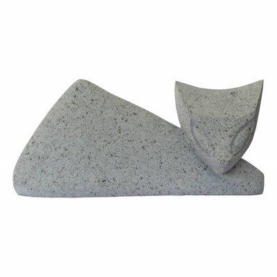 Abstrakte Katze aus Flussstein