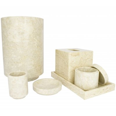 6-piece Marble bath set Banda