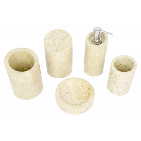 5-Teilige Marmor Badeset Rangga