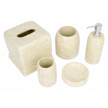 5-Teilige Marmor Badeset Madewi