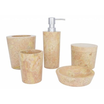 5-Piece Marble Bath Set Java