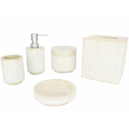 5-Teilige Marmor Badeset Soemba