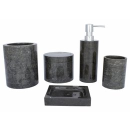 5-piece Marble bath set Sumatra