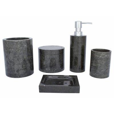 5-piece Marble bath set Sumatra