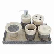 6-Piece Marble Bath Set Imelda