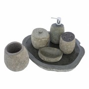6-piece River Stone bath set Flores