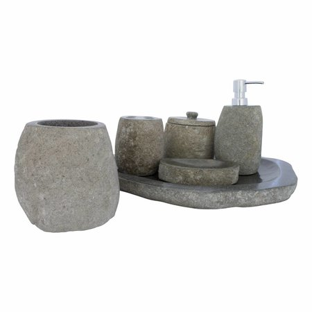 6-piece River Stone bath set Flores