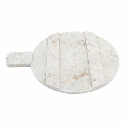 Käseplatte aus Marmor rund 30 cm