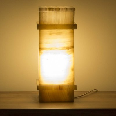 Square Lamp Onyx Hoogte 40 cm